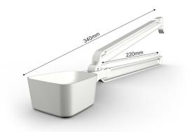 Skopklämma av Nylon medium vit
