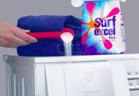 Skopklämma för tvättmedel
